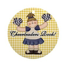 Cheerleaders Rock Ornament (Round)