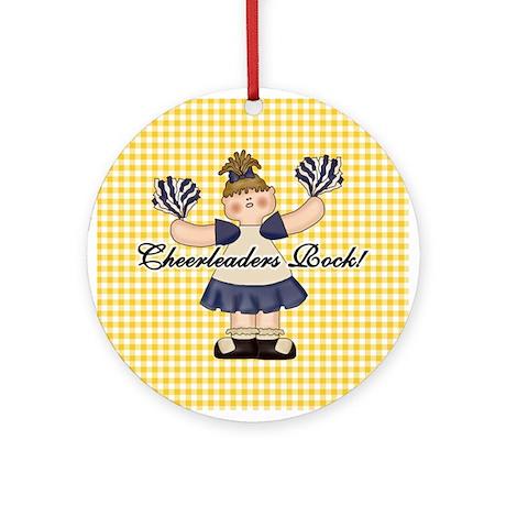 Cheerleaders Rock Ornament (Round)