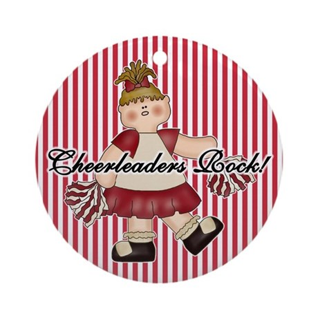 Cheerleaders Rock (red) Ornament (Round)