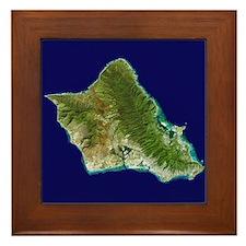 O`ahu from Landsat Framed Tile