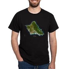 O`ahu from Landsat T-Shirt