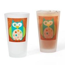 funny spotted owl Drinking Glass