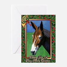 Mule Christmas Greeting Card