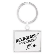ReligiousFreedom1st Landscape Keychain