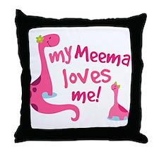 My Meema Loves Me Throw Pillow