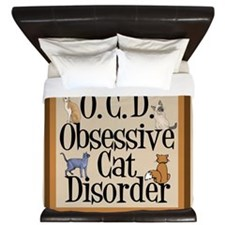 Obsessive Cat Disorder King Duvet