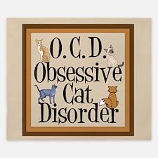 Obsessive Cat Disorder King Duvet