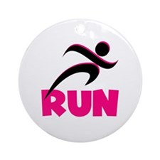 RUN in Pink Ornament (Round)