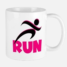 RUN in Pink Mug
