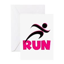 RUN in Pink Greeting Card