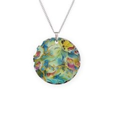 colorful birds beautiful for Necklace