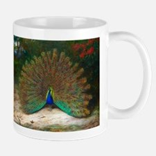 Peacock and Peacock Butterfly Mug