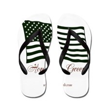 America home of the green Flip Flops