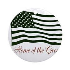 America home of the green Ornament (Round)