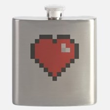 8-bit Pixel Heart Flask
