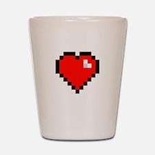8-bit Pixel Heart Shot Glass