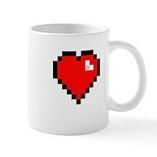 8-bit Pixel Heart Mug