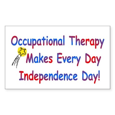 OT Independence Rectangle Sticker