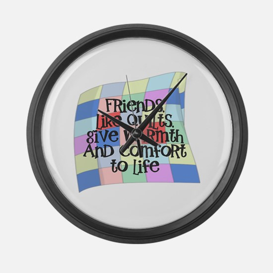 Funny Quilters Large Wall Clock