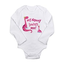 My Nanny Loves Me Long Sleeve Infant Bodysuit