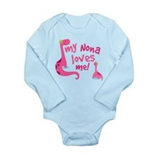 My Nona Loves Me Long Sleeve Infant Bodysuit