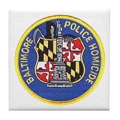 Baltimore Homicide Tile Coaster