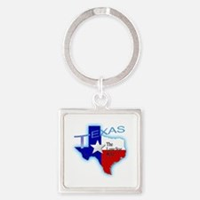 Texas Square Keychain