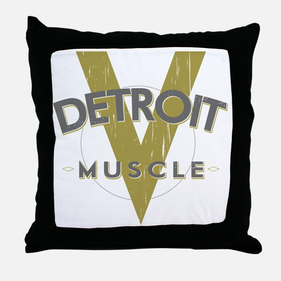 Detroit Muscle Throw Pillow