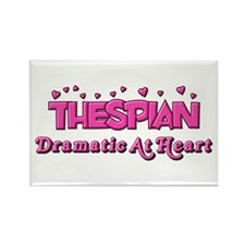 Thespian Hearts Rectangle Magnet