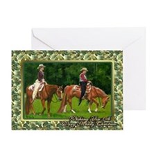 Quarter Horse Western Pleasure Christmas Greeting