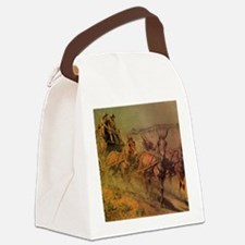 Stage Coach by John Borein Canvas Lunch Bag