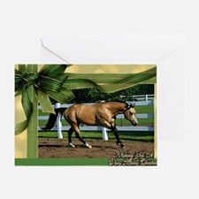 Buckskin Quarter Horse Christmas Greeting Card