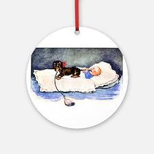 Baby's best buddy - Dachshund Ornament (Round)