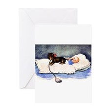 Baby's best buddy - Dachshund Greeting Card