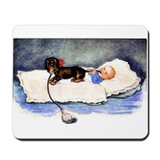 Baby's best buddy - Dachshund Mousepad