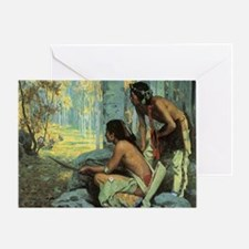 Taos Turkey Hunters by Couse Greeting Card