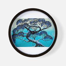 Blue Bonsai Serenity Wall Clock