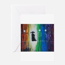 Prismatic Rain Romance Greeting Card