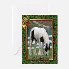 Gypsy Vanner Horse Christmas Greeting Cards (Pk of