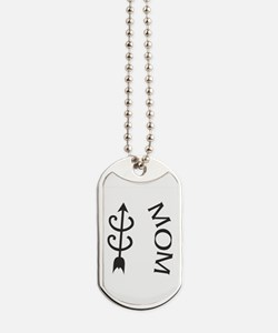 Cross Country Symbol Mom Dog Tag Necklace