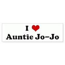 I Love Auntie Jo-Jo Bumper Bumper Sticker