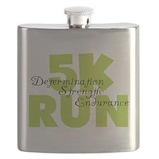5K Run Green Flask
