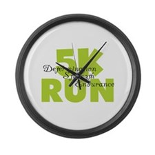 5K Run Green Large Wall Clock