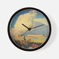 Open Range by Maynard Dixon Wall Clock