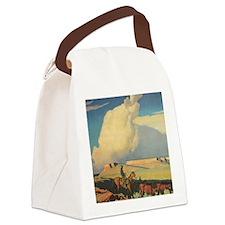 Open Range by Maynard Dixon Canvas Lunch Bag