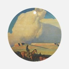 Open Range by Maynard Dixon Round Ornament