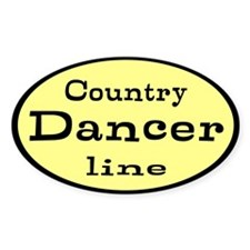 Country Line Dancer Custom Decal