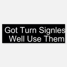 Turn Signals Custom Bumper Bumper Sticker