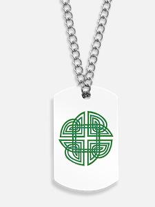 Celtic Four Leaf Clover Dog Tags