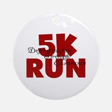 5K Run Red Ornament (Round)